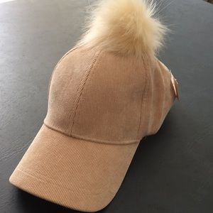 Accessories - ** SALE! ADORABLE corduroy baseball cap with Pom